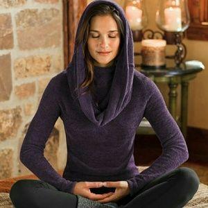 Athleta Purple Cowl Neck Sweater