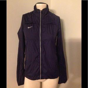 Nike Navy Reflective Nylon Windbreaker Jacket XS