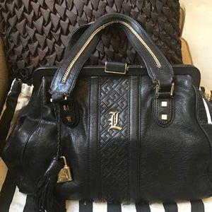 L.A.M.B. Brand Leather Satchel Handbag