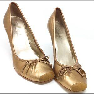 Jessica Simpson Square Toe Ballerina High Heel