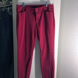 GAP Red Slim City Crop Stretch Size 8 Excellent