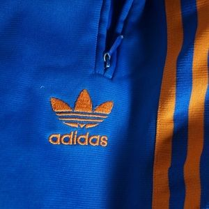 adidas Pants - Adidas Blue/Orange Sweatpants