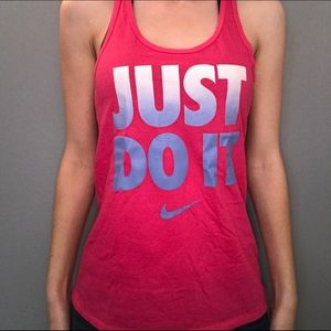 """Nike Pink """"Just Do It"""" Tank"""