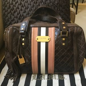 L.A.M.B. Brand Leather Handbag