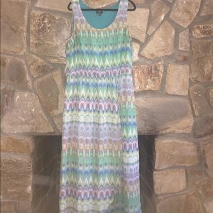 Dresses & Skirts - Lime Green & Turquoise Maxi