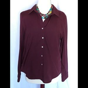 Talbots Wrinkle Resistant Blouse, size 14.