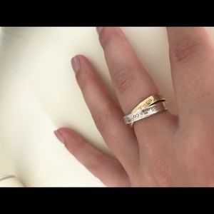 Authentic Tiffany & Co double ring