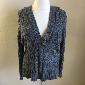 Sweaters - PLUS SIZE GREY SWEATER HOODIE OVER SIZES 2X