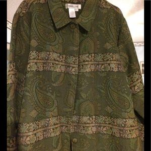 Coldwater Creek lightweight tapestry jacket