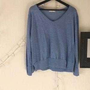 Zara Knit Women's  light blue sweater. V neck.