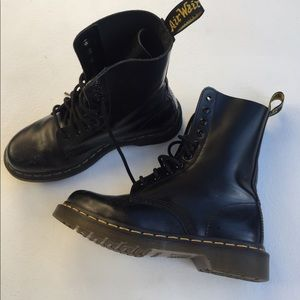 Dr Marten's Black Leather Boots