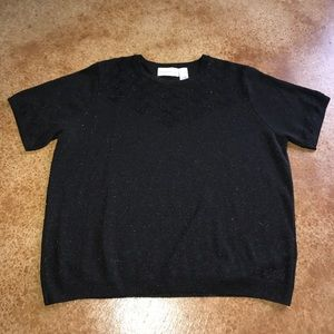 Alfred Dunner XL black sparkle sweater