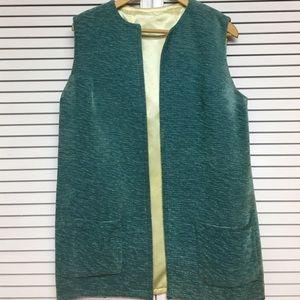 Vintage Upholstery Material & Satin Vest