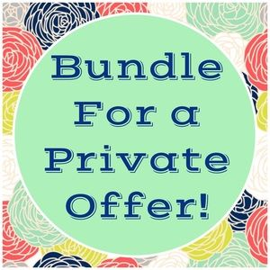 Bundle for a private offer!😊❤️😊