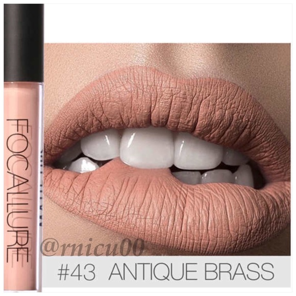 Focallure Makeup | Last 1 Neutral Antique Brass Matte Lipstick ...