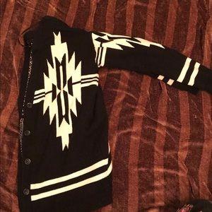 Tribal print cardigan/ button down