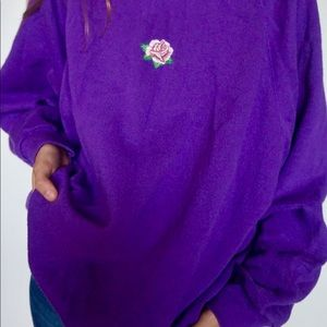 Purple hoodie with rose
