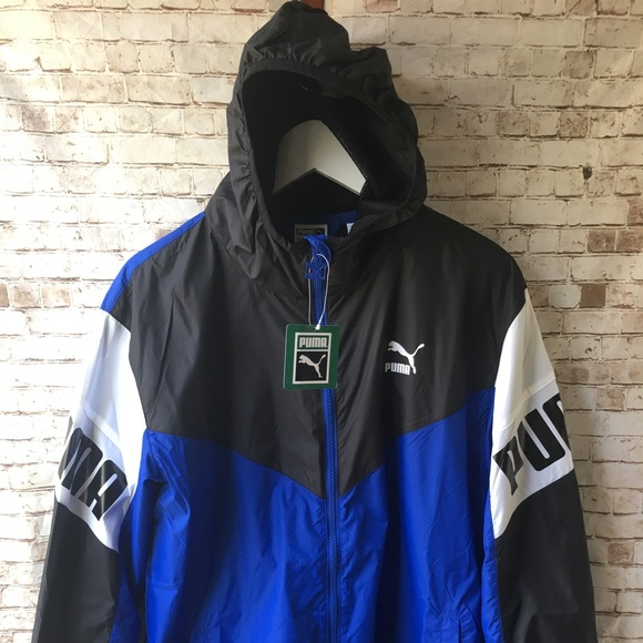 122817558d09 Puma Football Windbreaker Men s Size L Multicolor
