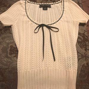 Ralph Lauren cotton knit Top. Women's Small