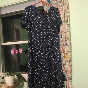 Eva Mendez NY&CO tiny rose and polka dot dress