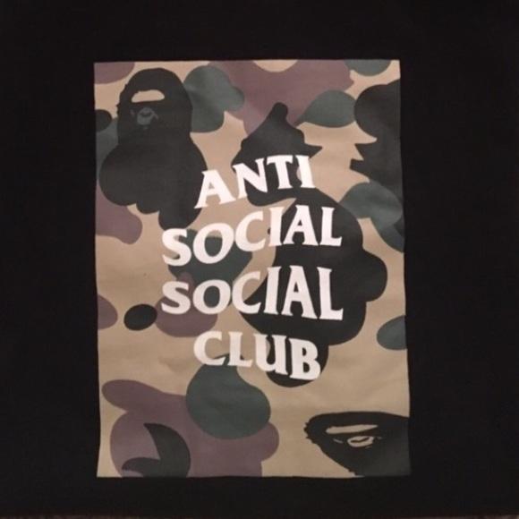024dad96 bape Shirts | X Antisocial Social Club Tee | Poshmark