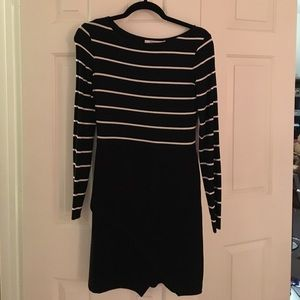 Black and white color blocked Bailey44 dress.