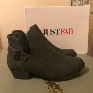 BRAND NEW Just Fab Olive Braided Boot Bootie Sz 10