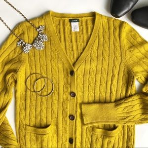 • J. Crew cable knit sweater cardigan •
