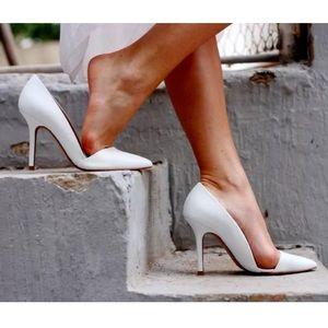Zara Asymmetric Court Shoes Pumps White Size 37