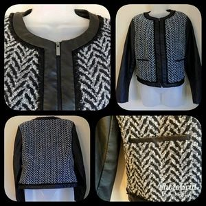 Mossimo Chevron Vegan Leather Jacket
