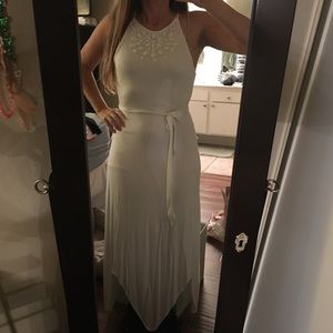 White long dress with beading