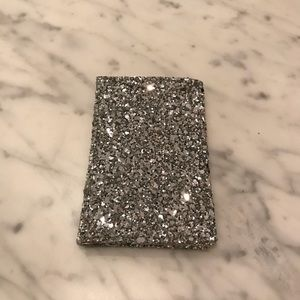 J. Crew NWOT silver glitter magic wallet