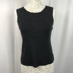 Eileen Fisher Merino Wool Sleeveless Tank Top Gray