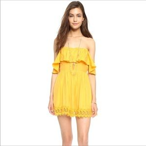 Lovers + Friends dream vacay off shoulder dress