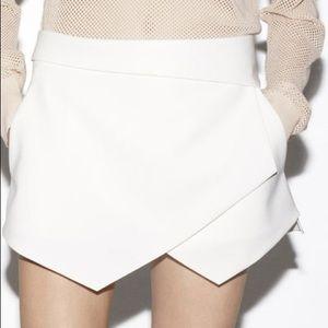 Zara White Wrap Skort