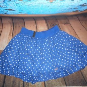 Hollister Blue And White Polka Dot Skirt