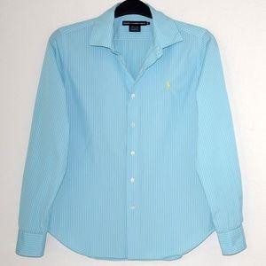 Ralph Lauren Womens Shirt Cotton Striped 12