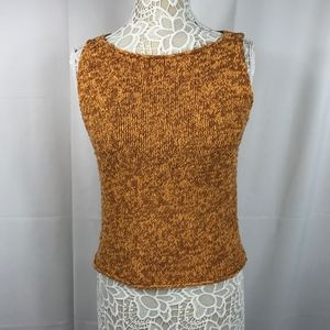 Eileen Fisher Knit Sleeveless Top Orange Brown S