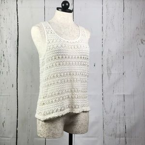 XXI Forever 21 Crocheted Tank Sweater