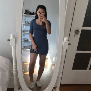 Topshop Blue Bodycon Dress