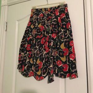 Anthropology A-line skirt