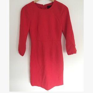 J.CREW - red sheath dress