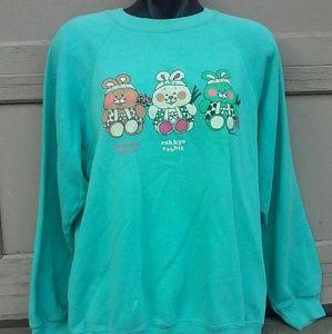 Vintage 80s Japanese Kawaii Bunny Sweatshirt