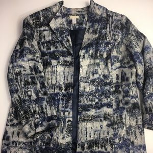 Blue Tie Dye Long Blazer