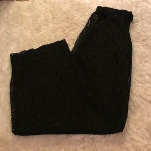 Trina Turk crochet swim pants