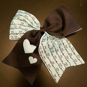Clip in hair ribbon Alice in wonderland theme