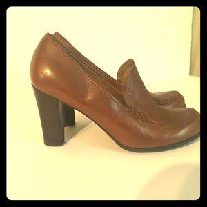 Franco Sarto Women's Brown Leather Heels Size 8