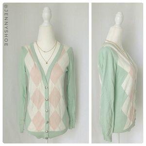 {forever 21} argyle pastel cardigan