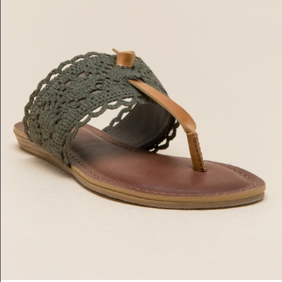 4940523dfe6 Fergalicious Stella Crochet Thong Sandal