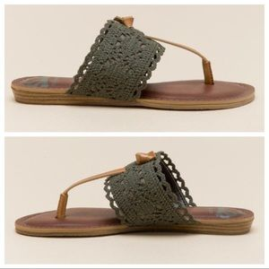 6230eceb934 Francesca s Collections Shoes - Fergalicious Stella Crochet Thong Sandal